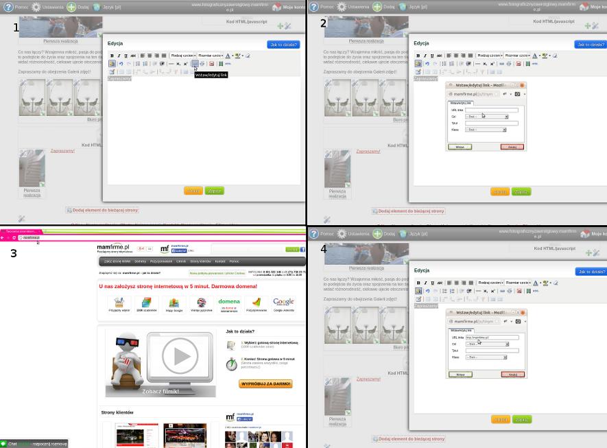 Wskazówki dotyczące podlinkowania tekstu ;) jak założyć stronę, strona WWW, kreator stron, edytor stron, strona internetowa