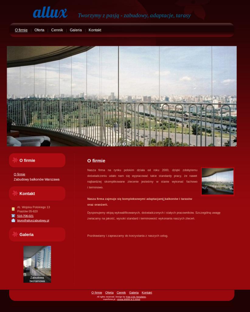 Przykładowa strona dla producentów oferujących zabudowy balkonów zabudowy balkonów warszawa, zabudowa balkonów warszawa