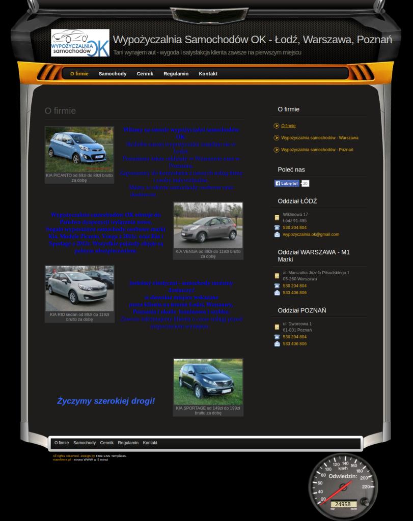 Przykład strony dla wypożyczalni samochodów szablony stron www, szablony stron internetowych,kreator stron www,kreator stron internetowych,tworzenie stron www,tworzenie stron internetowych,jak założyć stronę www,jak założyć stronę internetową