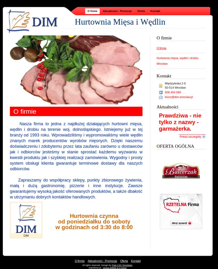 Przykładowa strona - hurtownia mięsa i wędlin, hurtownia wędlin wrocław, hurtownia mięsa wrocław, hurtownia drobiu wrocław