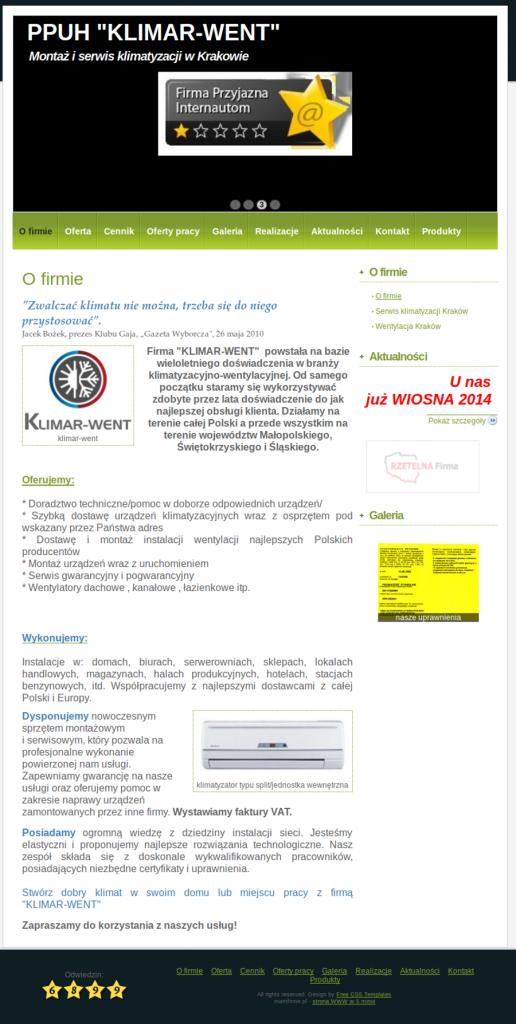 serwiPRZYKŁADOWA STRONA DLA SERWISU KLIMATYZACJI, klimatyzacja kraków, wentylacja kraków, serwis klimatyzacji krakówsklimatyzacjikrakow.pl_2014-04-08_15-13-54